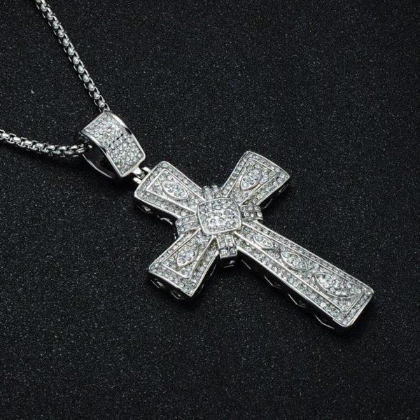 Cross Pendant for Men - Bling Collection - Side