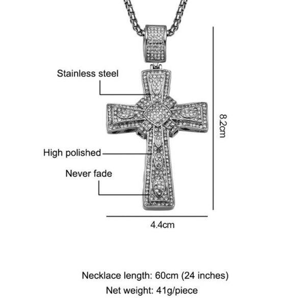 Cross Pendant for Men - Bling Collection - Size