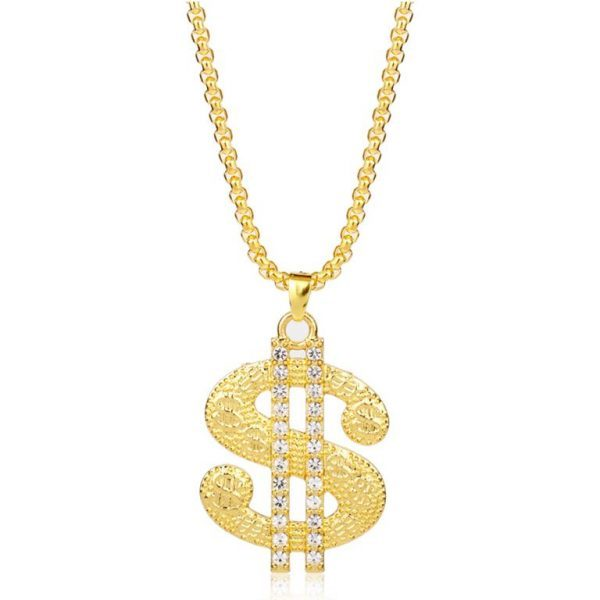 Golden-US-Dollar-Pendant-With-Chain-Bling-Collection-Bling-Collection