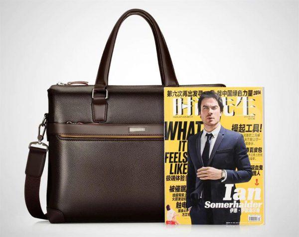 Men's Casual Leather Bag Set - Comparison