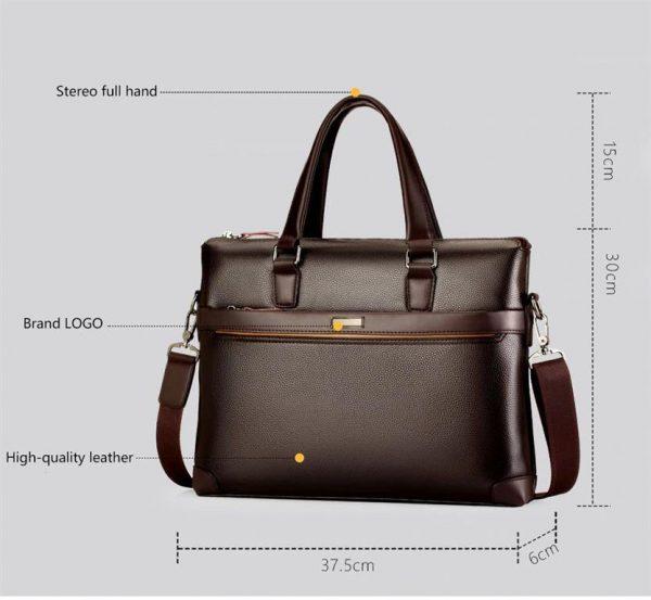 Men's Casual Leather Bag Set - Dimensions
