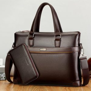 Men's Casual Leather Bag Set