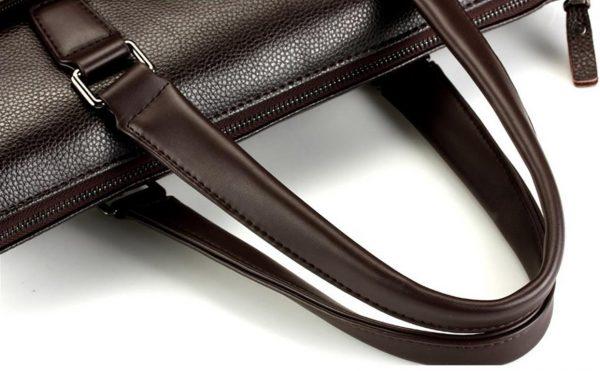 Men's Casual Leather Bag Set - Handles