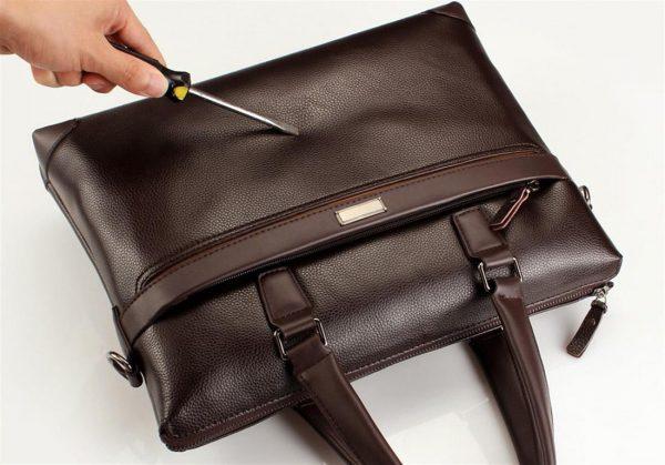 Men's Casual Leather Bag Set - Scratch