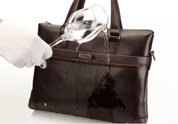 Men's Casual Leather Bag Set - Waterproof