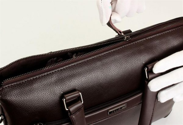 Men's Casual Leather Bag Set - Zipper