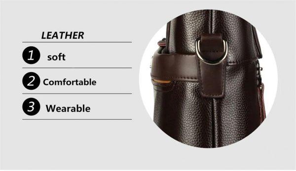 Men's Casual Leather Bag Set - side