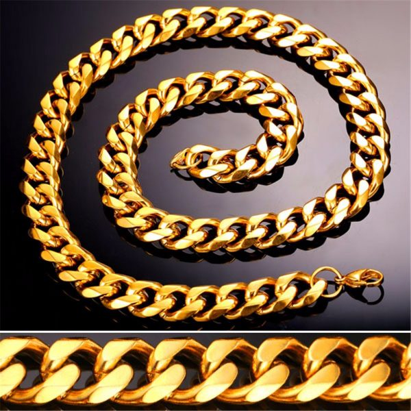 Men's Cuban Link Hip-Hop Chain - Bling Collection -12mm Closeup