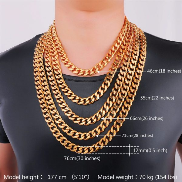 Men's Cuban Link Hip-Hop Chain - Bling Collection - 12mm Sizes