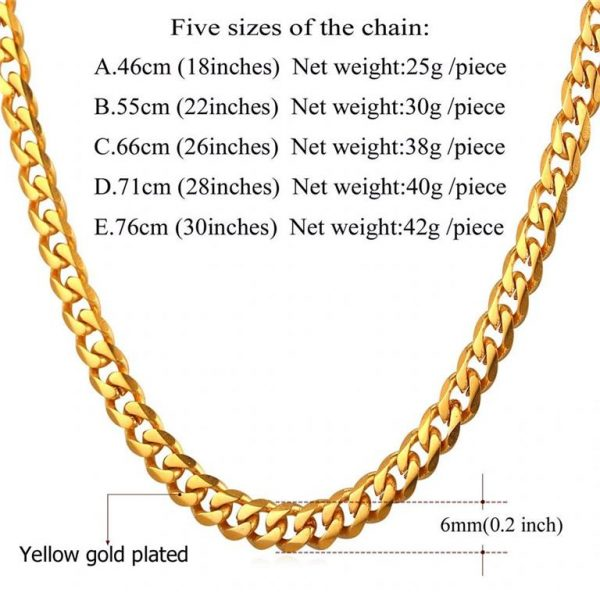 Men's Cuban Link Hip-Hop Chain - Bling Collection - 6mm - Weight