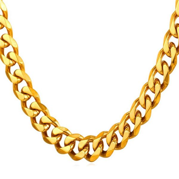Men's Cuban Link Hip-Hop Chain - Bling Collection - Gold
