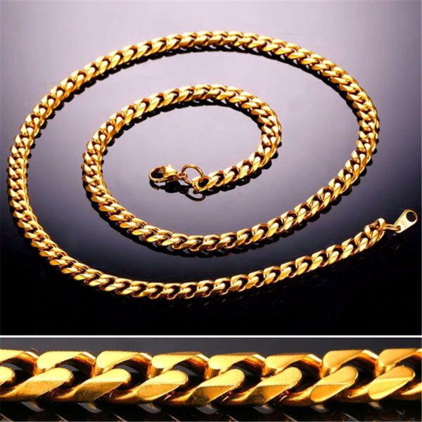 Men's Cuban Link Hip-Hop Chain - Bling Collection - Gold - 6mm