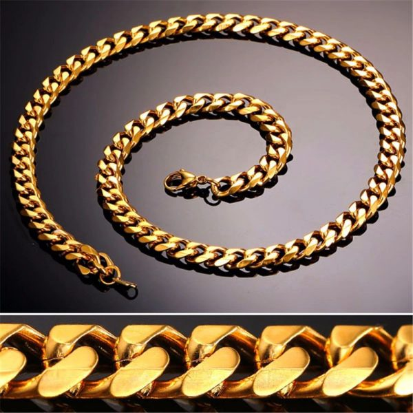 Men's Cuban Link Hip-Hop Chain - Bling Collection - Gold - 9mm