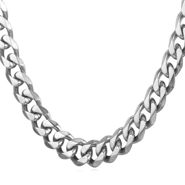 Men's Cuban Link Hip-Hop Chain - Bling Collection - Steel