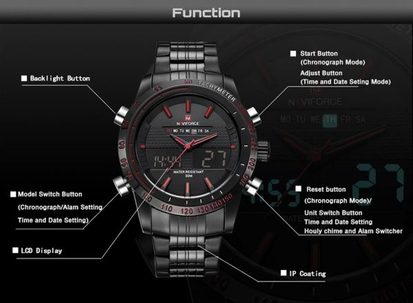Men's Fashion Sports Watch - Functions