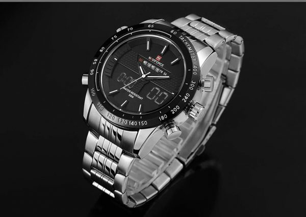 Men's Fashion Sports Watch - Silver