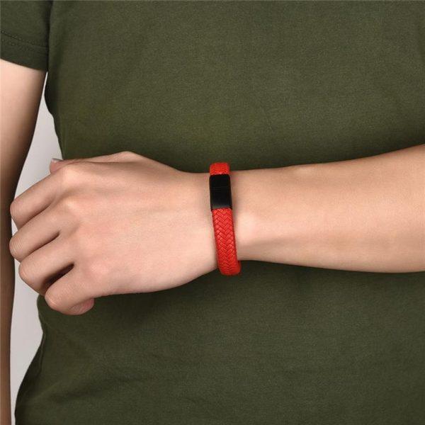 Men's Leather Braided Bracelet - 13