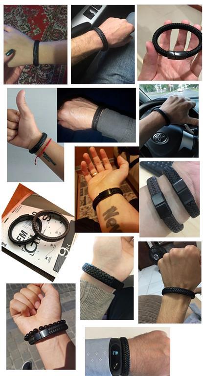 Men's Leather Braided Bracelet - Samples