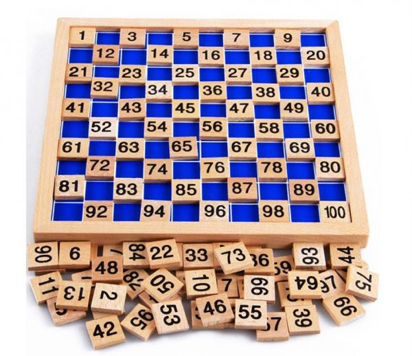 Montessori Education Wooden Math Board - Contents
