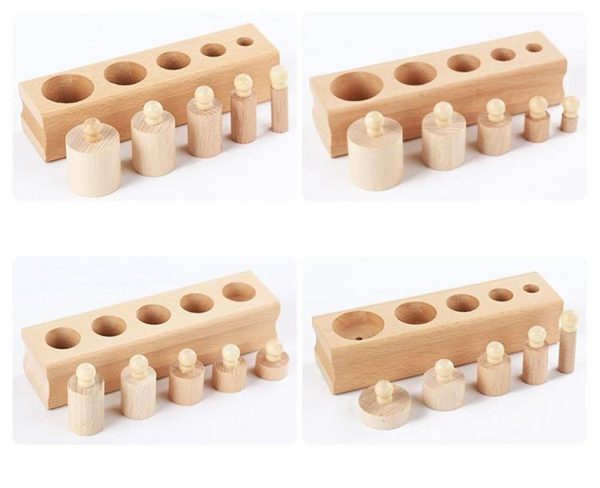 Montessori Wooden Cylinder Blocks - Cylinders