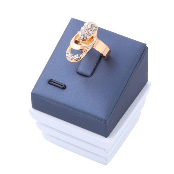 Rose Gold Crystal Party Dress Jewelry Sets For Women - Ring Box