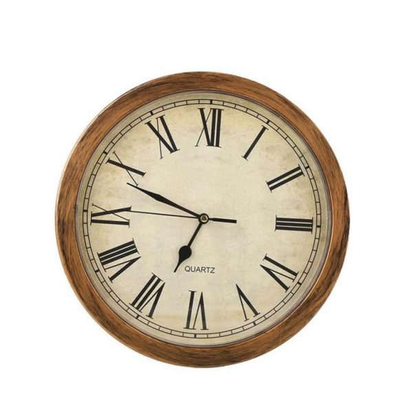 Wall Clock Secret Storage Box - Antique - Front