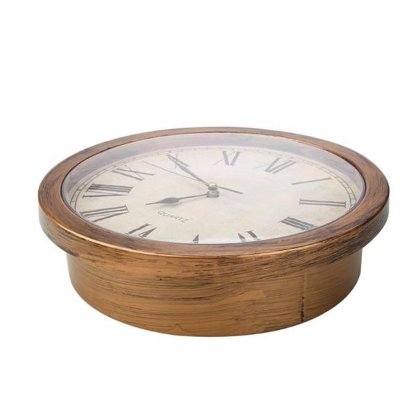 Wall Clock Secret Storage Box - Antique - Side