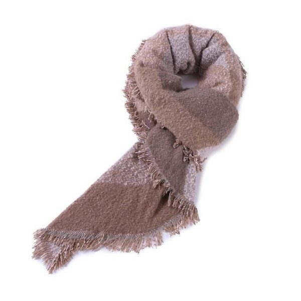 Warm Winter Shawls for Women - Beige 2