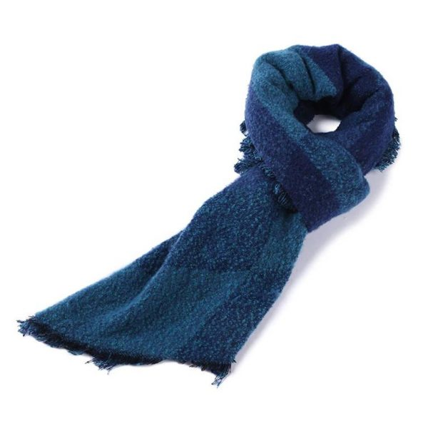 Warm Winter Shawls for Women - Blue - 2