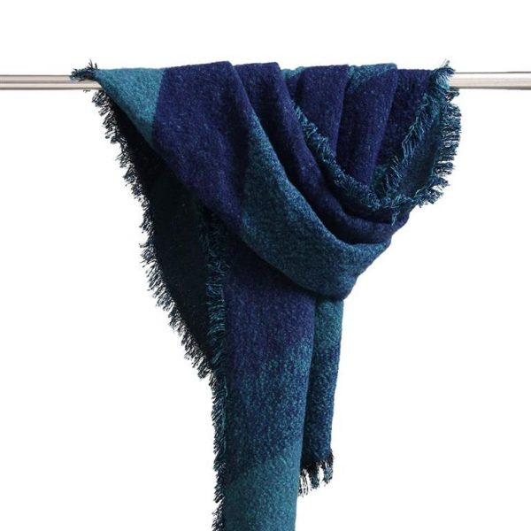Warm Winter Shawls for Women - Blue