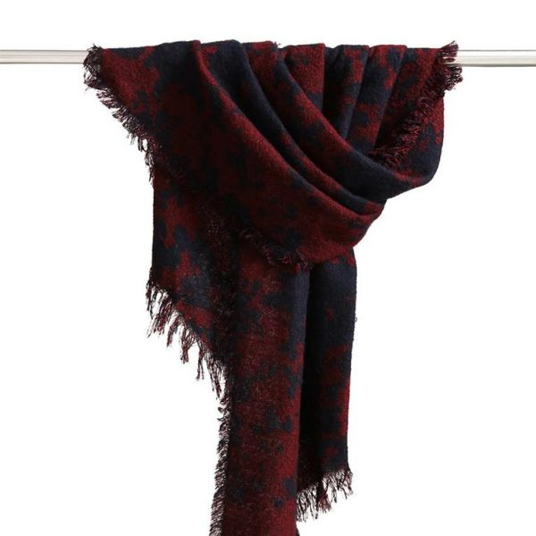 Warm Winter Shawls for Women - Dark Blue