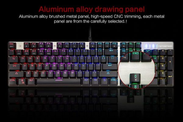 Wired Backlit Mechanical Gaming Keyboard - Panel