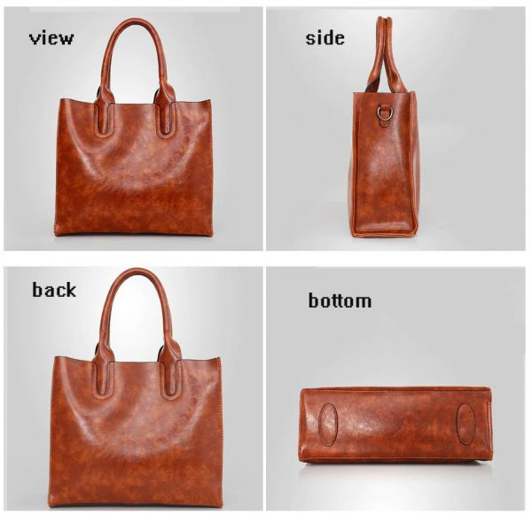 Women's High Quality 3 Set Handbags - Brown Profile