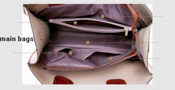 Women's High Quality 3 Set Handbags - Interior