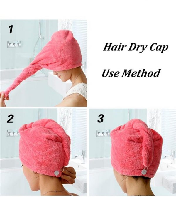 Women's Super Absorbent Quick-Drying Hair Towel - Instructions