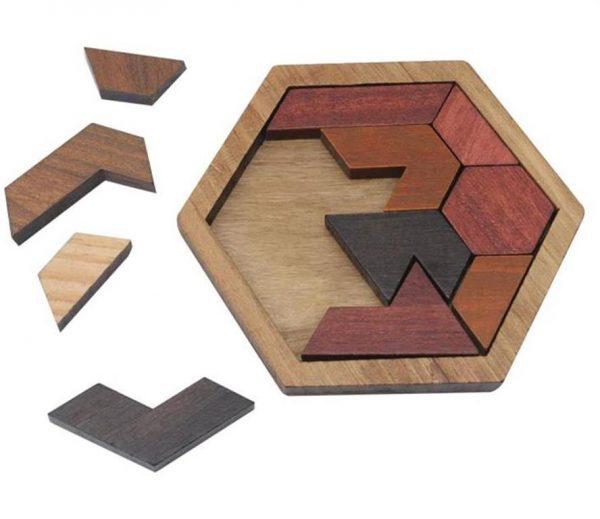 Wooden Jigsaw Puzzle - Geometric - 4