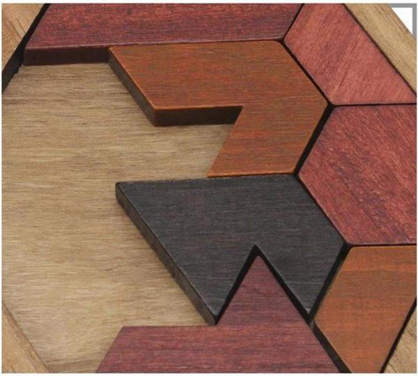 Wooden Jigsaw Puzzle - Geometric - 5