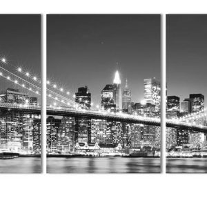 3 Piece Brooklyn Bridge Picture Print on Canvas - 1