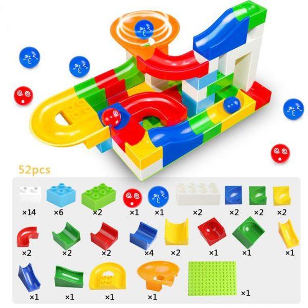 52 Piece Marble Maze Construction Set - 52