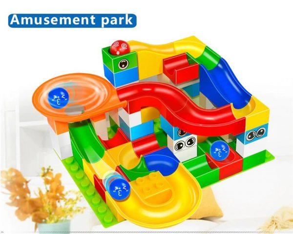 52 Piece Marble Maze Construction Set - Amusement Park