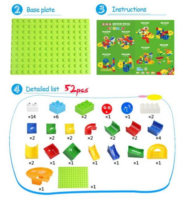 52 Piece Marble Maze Construction Set - Contents