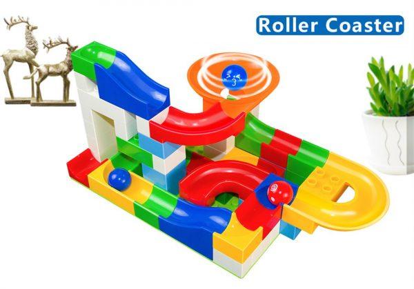 52 Piece Marble Maze Construction Set - Roller Coaster