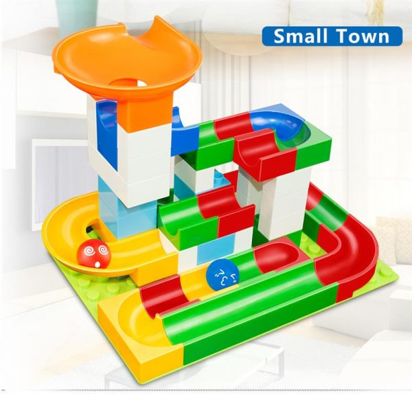 52 Piece Marble Maze Construction Set - Small Town