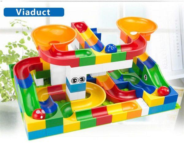 52 Piece Marble Maze Construction Set - Viaduct