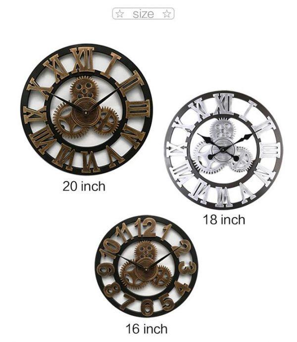 Antique 3D Wall Clock - 1
