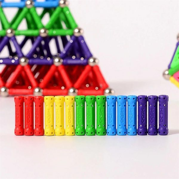 Colourful Magnetic Building Blocks Bars-and-Balls - Bars