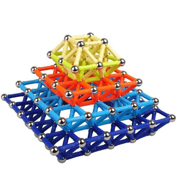 Colourful Magnetic Building Blocks Bars-and-Balls - Shape