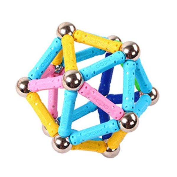 Colourful Magnetic Building Blocks Bars-and-Balls -Shape1