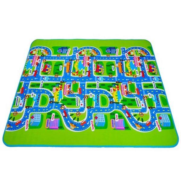 Foam Play Mat For Children - city traffic