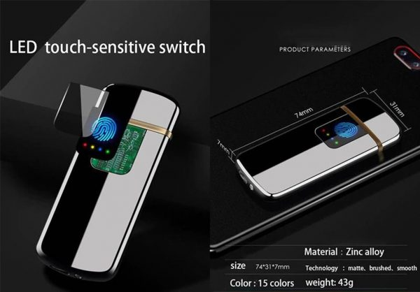 LED Touch Sensitive Induction Lighter - Products